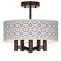 Luxe Tile Ava 5-Light Bronze Ceiling Light dining room