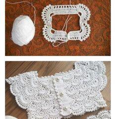 Crochet Vest Pattern Knit Crochet Crochet Patterns Crochet Baby Booties Baby Girl Crochet Crochet For Kids Baby Knitting Hand Embroidery Baby Dress Image gallery – Page 377528381262495945 – Artofit Gilet Crochet, Crochet Vest Pattern, Crochet Baby Cardigan, Knitting Patterns, Crochet Patterns, Crochet Blouse, Baby Girl Crochet, Crochet Baby Clothes, Crochet For Kids