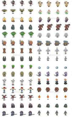 Pixel Monster Set — Photoshop PSD #set #beast • Download here → https://graphicriver.net/item/pixel-monster-set/9696296?ref=pxcr