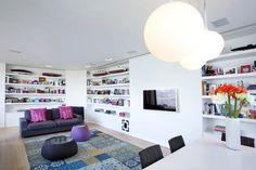 Contemporary white storage.