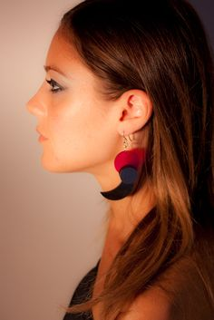 Handmade plexi earrings by SLB
