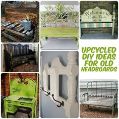 Lots of great ideas to recycle a headboard