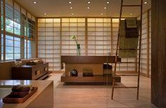 Bathroom, Modern Bathroom Design Pictures Free Standing Towel Racks For Japanese Bathroom Design And Bathroom Vanity Mirror Lights: Eye-Catching Japanese Bathroom Design Small Space