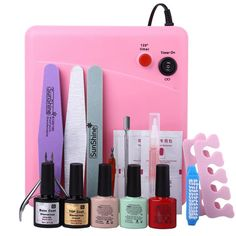 compare prices professional nail art manicure tools uv nail set with 36w polish dryer lamp and 3 colors #nail #lacquer