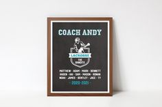 Coach Christmas Gifts, Coach Gifts, Printable Quotes, Printable Wall Art, Team Word, Coach Appreciation Gifts, Choose Quotes, Back To School Sales, Team Names