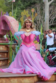 Aurora, Mickey's Soundsational Parade (by jodykatin) - She's a really good Aurora! And I like how her dress is pink AND blue!