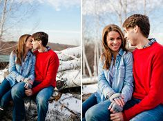 Christmas couples photo shoot-- love!!!