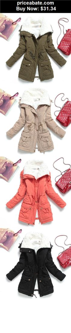 Women-Coats-And-Jackets: Fashion Winter Women Cotton Long Fur Collar Lapel Coat Jacket Parka Trench Coat - BUY IT NOW ONLY $31.34