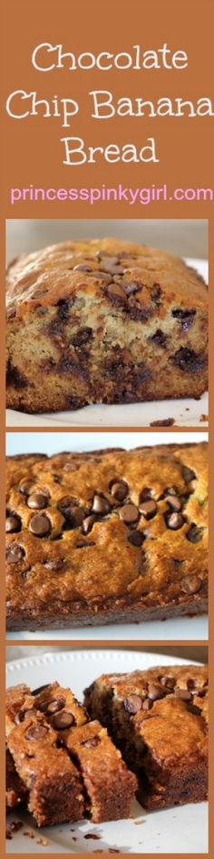 GREAT chocolate chip banana bread recipe! Moist and delicious banana bread.