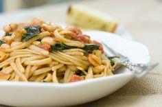 Cajun Pasta w/ White Beans and Kale...Quick, Easy, & Healthy! Vegan