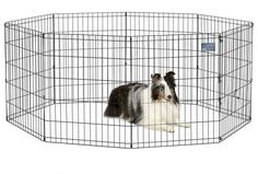 """Dog Exercise Pen, Pet Play Fence Yard Cage / Gate 30"""", Indoor Whelping Dogs Pets  