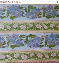 40% OFF Summer Sale Cotton Fabric , Quilt Fabric, Home Decor, Floral, Hydrangea Radiance, Wilmington Prints, Fast Shipping