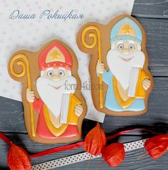 Fancy Cookies, Cupcake Cookies, Sugar Cookies, Biscuit Cookies, Biscuit Recipe, Christmas Cookie Jars, Saint Nicolas, Royal Icing, Amazing Cakes