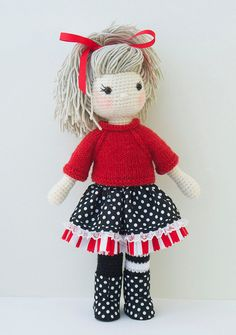 Amigurumi crochet doll Gorgeous girl doll with от BubblesAndBongo
