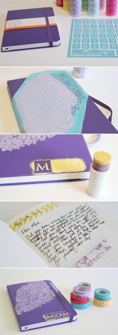 Gratitude Journal customized for a gift. Perfect for Mother's day or Father's day - even for grads! #DIY