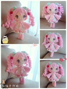 Amigurumi anime style doll. Kawaii crochet. (Inspiration).♡