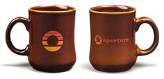 "ThinkGeek :: Portal 70s Aperture Diner Mug - ""Aperture Science... We do what we must because we can... for the good of all of us, except the ones who are dead..."""