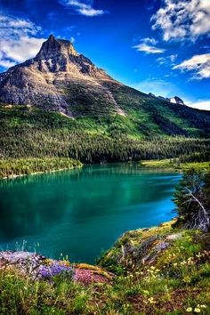 Glacier National Park – Montana. Went cycling here a few years ago at the end of the summer season. It was incredible.