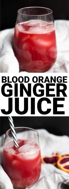 Vegan Blood Orange Ginger Juice - Fooduzzi - Blood Orange Ginger Juice: A simple and flavorful juice you can make without a juicer! Naturally vegan and gluten free. Green Juice Recipes, Healthy Juice Recipes, Best Smoothie Recipes, Good Smoothies, Healthy Juices, Juice Smoothie, Healthy Drinks, Cleanse Recipes, Juicer Recipes