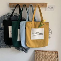 Your place to buy and sell all things handmade : Ancient Sense Literary Bag College Student Bag Thick Canvas Canvas Handbags, Canvas Tote Bags, Canvas Backpack, Mochila Tutorial, Sacs Design, Purses And Handbags, Cheap Handbags, Luxury Handbags, Brown Handbags