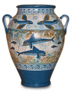 Minoan vase with an ocean motif