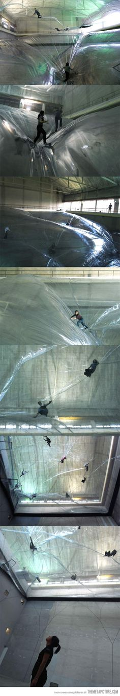 Now this looks like fun… though I'm sure I'd hyperventilate from fear of falling through.