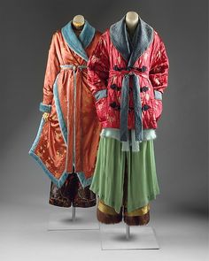 """Ensembles:"" Designer: Jean Paul Gaultier (French, born 1952) Date: fall/winter 1994–95 Culture: French Medium: synthetics, angora"
