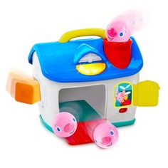 The timeless story of the Three Little Pigs comes to life in this adorable sorting toy. Lil' Piggies' Play House from the Having a Ball Collection introduces numbers and counting when the little piggy balls are dropped into the chimney. Learning Colors, Learning Toys, Three Little Pigs, Little Ones, Little Girls Playhouse, Playhouse Interior, Cubbies, Toddler Toys, Play Houses