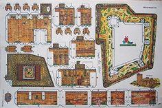 LOTE COMPLETO 8 RECORTABLES CASTILLOS. SERIE MEDIEVAL. CONBEL. 1989. (Ver fotos)