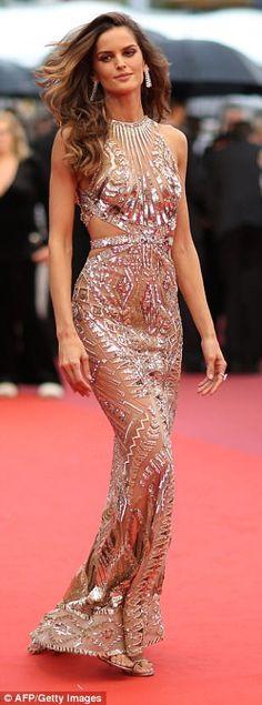 Threads: Brazilian model Izabel Goulart donned a striking Zuhair Murad look...