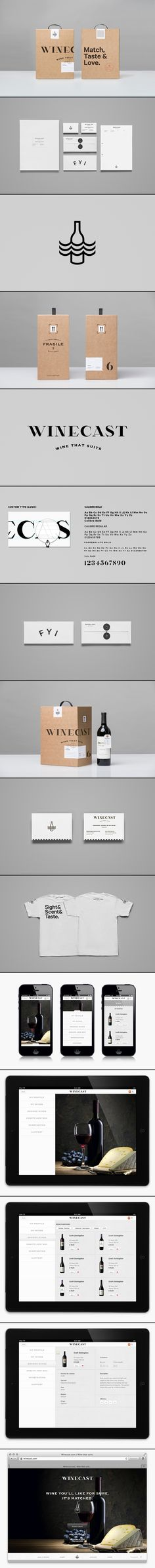 Winecast | #stationary #corporate #design #corporatedesign #identity #branding #marketing < repinned by www.BlickeDeeler.de | Take a look at www.LogoGestaltung-Hamburg.de