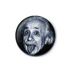 Pyramid International Rozet - Albert Einstein (Tongue) - 25 mm Rozet - BunlardanIstiyorum.com