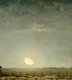 yama-bato:  Jean-Francois Millet  Park with Sheep in the Moonlight, c. 1872, Musee d'Orsay, Paris. via