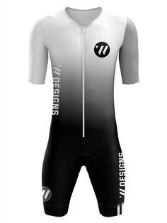 Men's Triathlon, Bike Wear, Wetsuit, Cycling Outfit, Black White Stripes, Biker, Sport Outfits, Swimwear, Sports