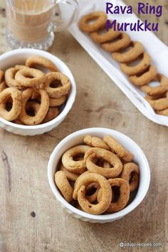These cute edible rings made from semolina have taken the title as rava ring…