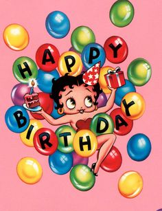 betty boop pictures | Ultimate Betty Boop Birthday Wrapping Paper 32 Sq Ft | eBay