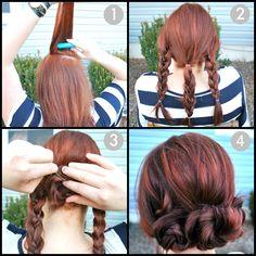 HAIR - QUICK & SIMPLE UPDO HAIR TUTORIAL - Beauty Tutorials