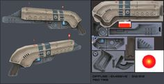 Hand painted Sci-fi rifle by CougarJo.deviantart.com on @deviantART