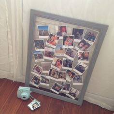 Large photo line peg frame from notonthehighstreet cards diy photo collage polaroid style photos ordered online at square snaps empty photo frame solutioingenieria Image collections