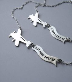 Message In the Sky Airplane Necklace | 35 Perfect Personalized Gifts To Give This Year
