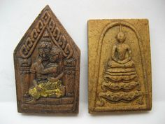 Currently at the #Catawiki auctions: 2 Double sided Buddha amulets - Thailand - mid to late 20th century