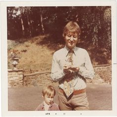 John & Julian Lennon. John did not appear at the hospital until a full  week after his son Julian was born.