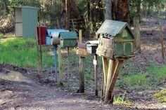 Cute roadside mailboxes