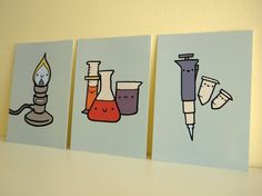 Lab Ware Art Postcards by scientificculture on Etsy, $8.00
