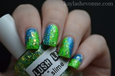 Nails by Kayla Shevonne: Lush Lacquer - Slime Time  - I adore this combination!