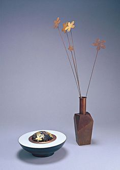 Vase / copper / design & made by gongplus+