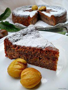 Con sabor a canela: Bizcocho de castañas gallegas Fondant Cakes, Cupcake Cakes, Spanish Desserts, Queen Cakes, Delicious Desserts, Yummy Food, Eat Seasonal, Pastry Cake, Desert Recipes