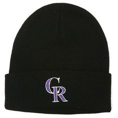 Colorado Rockies '47 Toddler Cuffed Knit Hat - Black