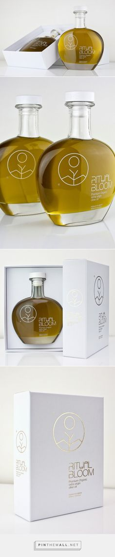 Ritual Bloom Premium Extra Virgin ‪#‎OliveOil‬ ‪#‎packaging‬ by Panos Nikolaou - http://www.packagingoftheworld.com/2015/03/ritual-bloom-premium-extra-virgin-olive.html
