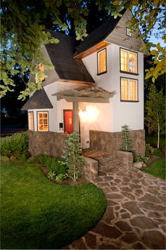 //Tiny house living. See this collection of small houses #house #exteriors